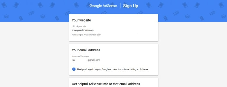 AdSense Signup-2