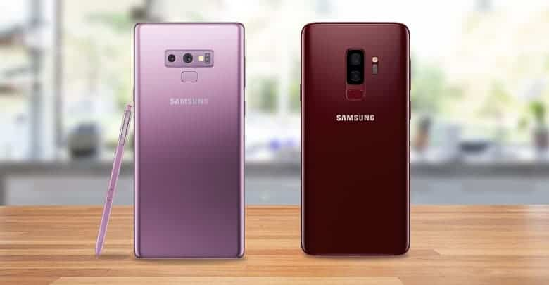 Samsung Galaxy S9 And Galaxy Note 9 05 10 2018