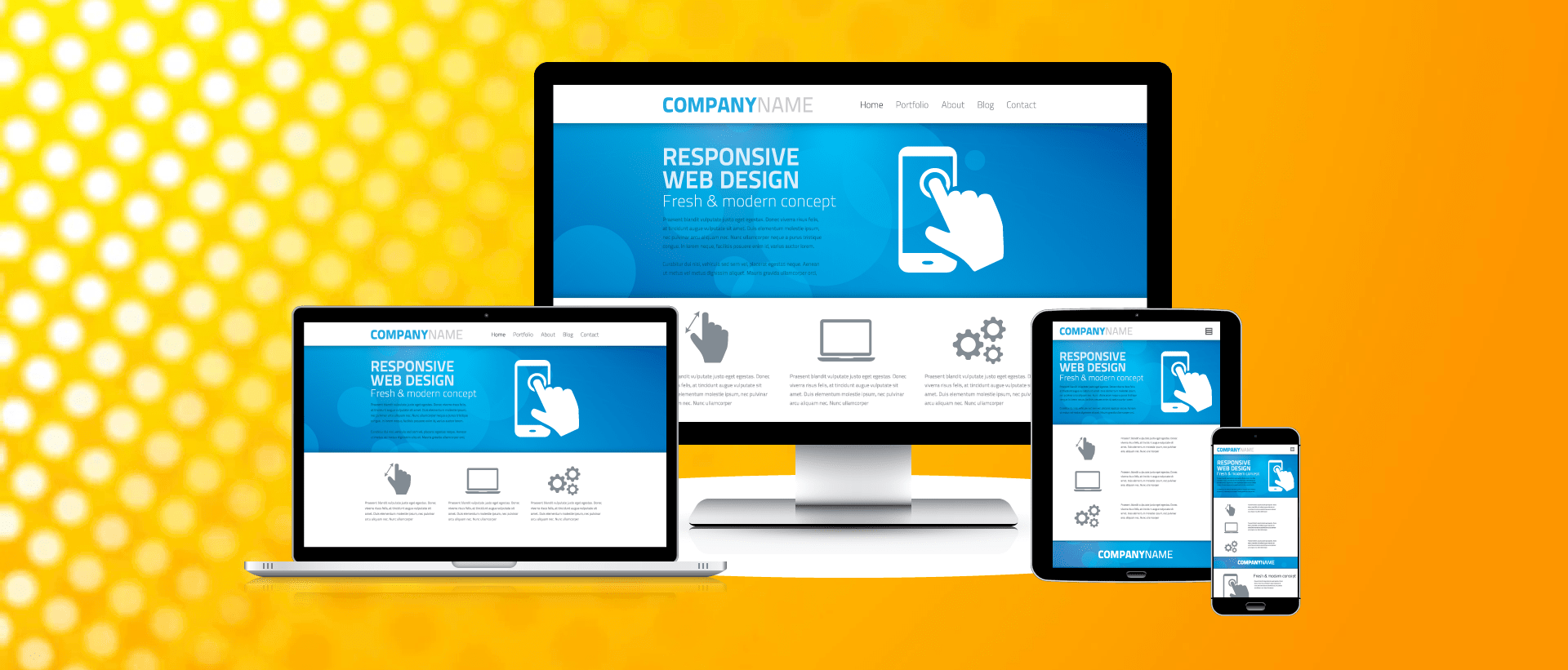 responsive and mobile friendly website