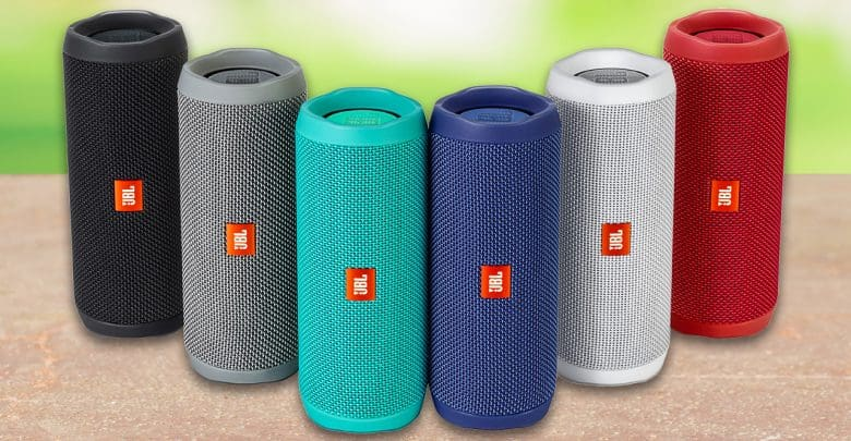 J B L Flip 4 Portable Wireless Speaker With Powerful Bass & Mic