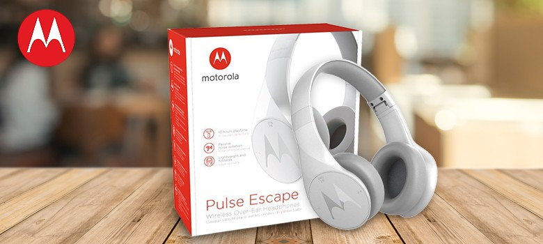 Motorola Pulse Escape Bluetooth Headphones ( White)