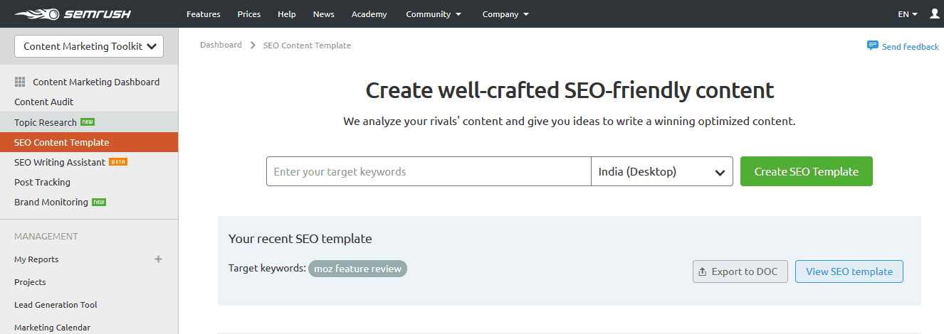 S E Mrush S E O Content Template For Seo Friendly Contents