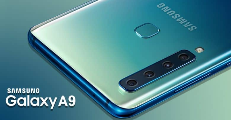 Samsung Galaxy A9 Smarphone Quad Camera Set Up Rear