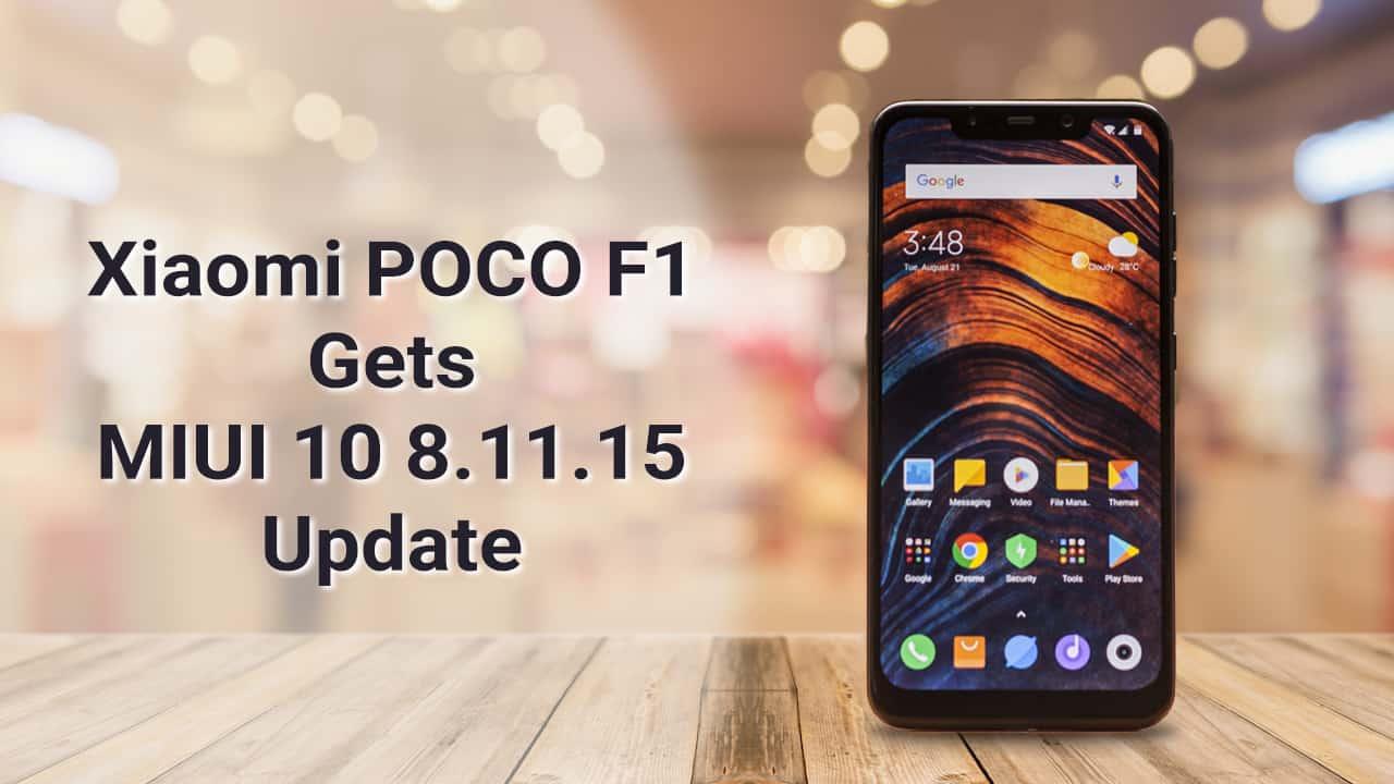 Xiaomi Poco F1 Smartphone Gets The New M I U I 10 Update