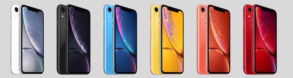 I Phone X R Smartphone Colors Variants