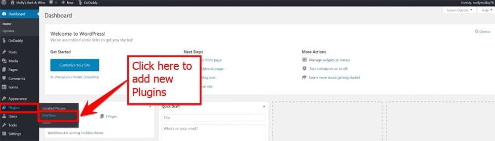 Add New Plugin From Word Press