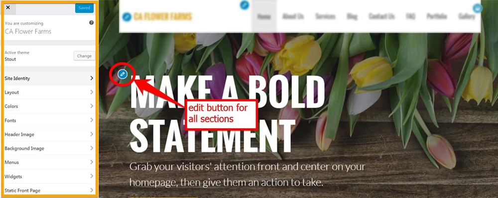 Use The Edit Button To Customize Color Fonts And Other Things