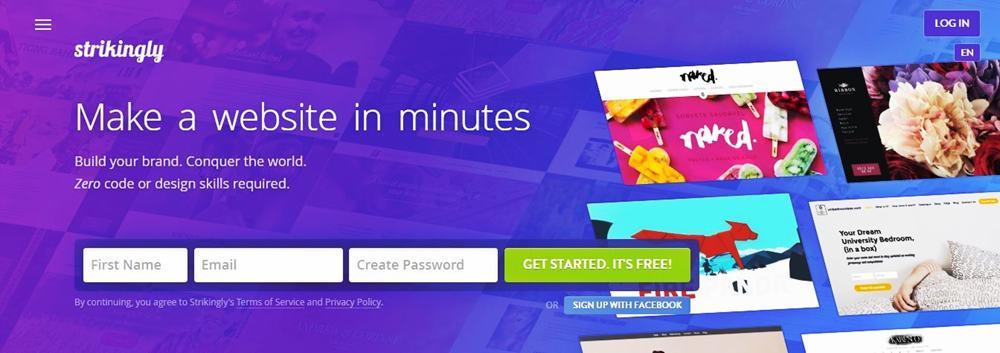 Create Your One Page Website With Easy Website Builder Strikingly