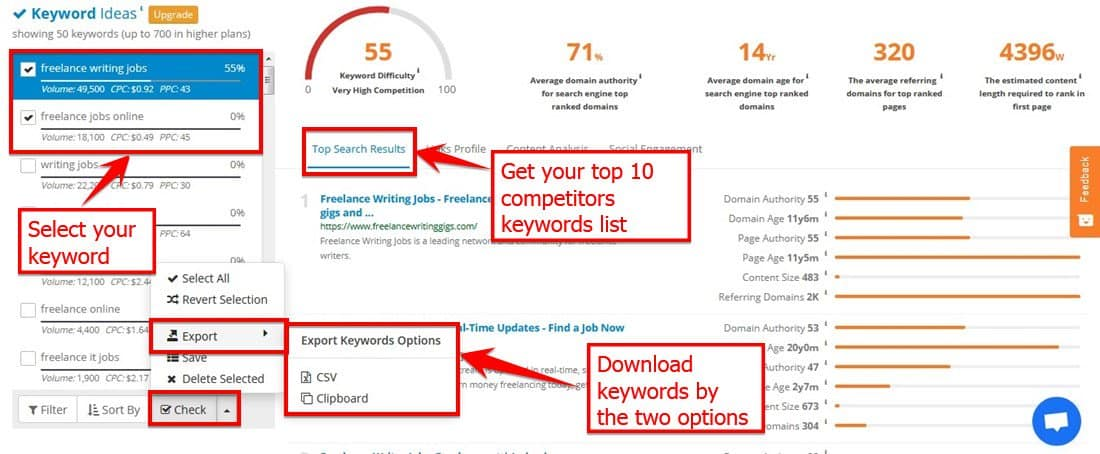 Find Your Top Ten Competitor's Keywords With S E Mscoop