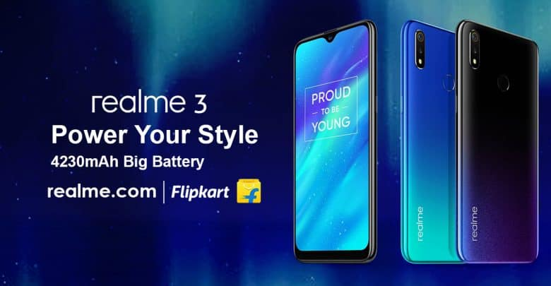 The Realme 3 Will Be Available On Flipkart From March 12