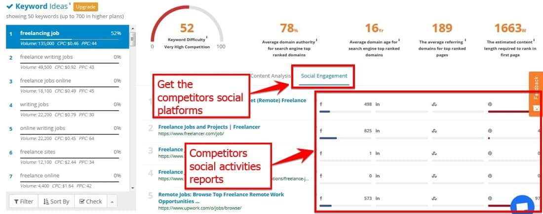 With S E Mscoop Check Competitor's Social Engagements