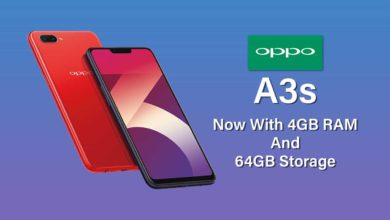 Oppo A3s New Variant With 4 G B R A M And 64 G B Storage Comes In India