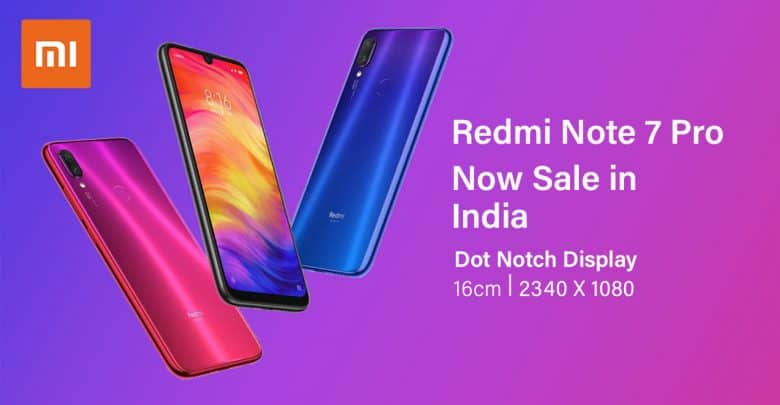 Redmi Note 7 Pro Sale In India Today With Amazing Pricing And Offers