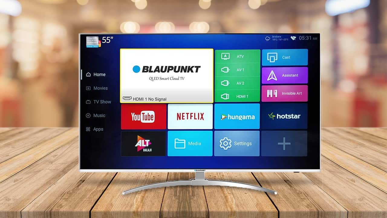Blaupunkt 55 Inch 4 K Q L E D Smart T V With Android 7.0 Launched In India