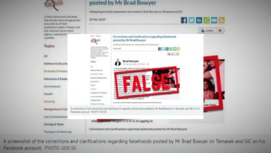 Photo of Singapore invokes 'fake news' law for 1st time