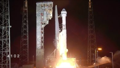 Photo of Boeing spacecraft launches on first mission to space station