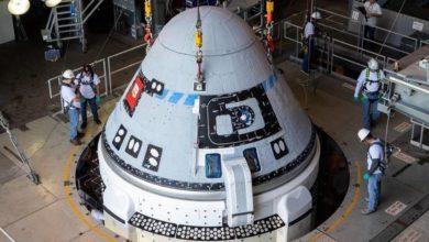 Photo of Boeing spacecraft set for test flight