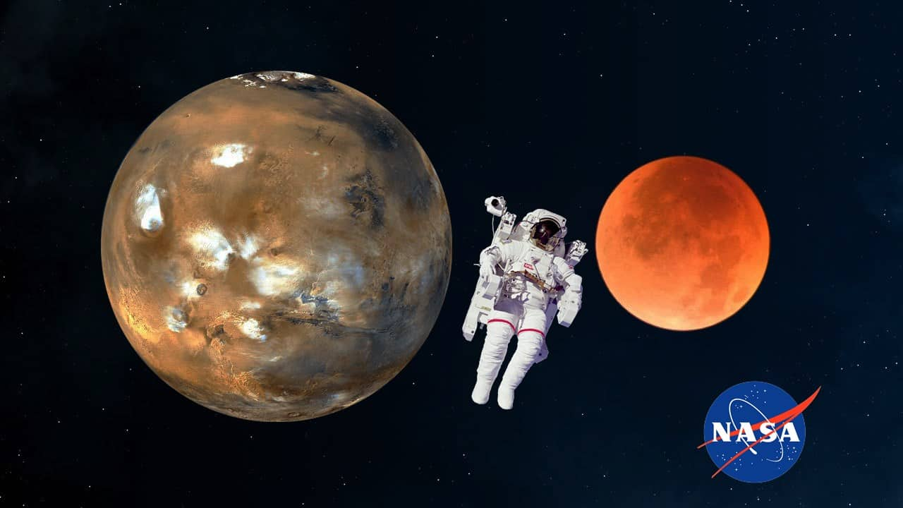 Astronaut In Programme With Eye On Moon, Mars