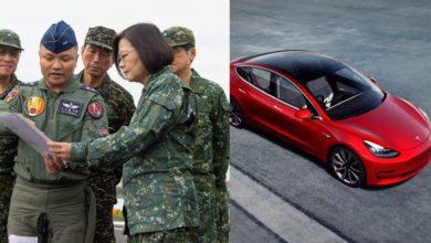 Taiwan Military Chooses Tesla Model 3