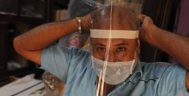 Photo of Amazon engineers build low-cost face shields for frontline workers