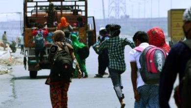 Up Migrants Resent Quarantine Posters Pasted On Houses