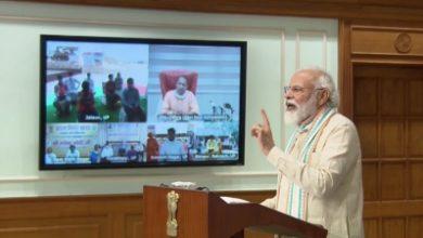 Modi Lauds Yogi For Making Up Aatmanirbhar Launches Employment Scheme