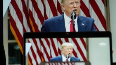 Photo of Trump entrenches defense of police, threatens Democrats