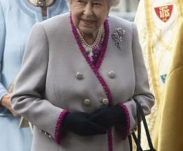 Photo of UK's Queen pictured outside for 1st time since lockdown