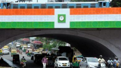 Traffic Briefly Halted At Delhis Minto Bridge Amid Rainfall