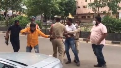Trs Workers Attack Bjp Mps Convoy In Telangana