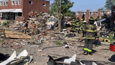 Photo of 1 dead, 6 injured, 3 homes destroyed in Baltimore gas explosion (Ld)