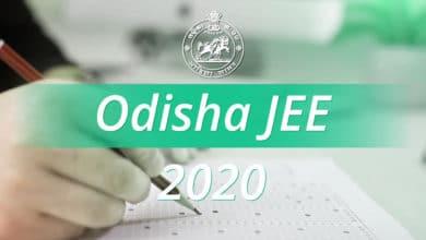 Odisha J E E 2020 Exam Date Released