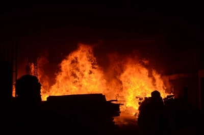 Major Fire At Refugee Camp In Greece No Casualty