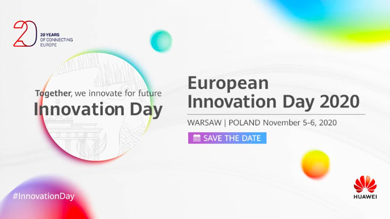 Huawei European Innovation Day 2020 From Nov 5 In Warsaw, Poland