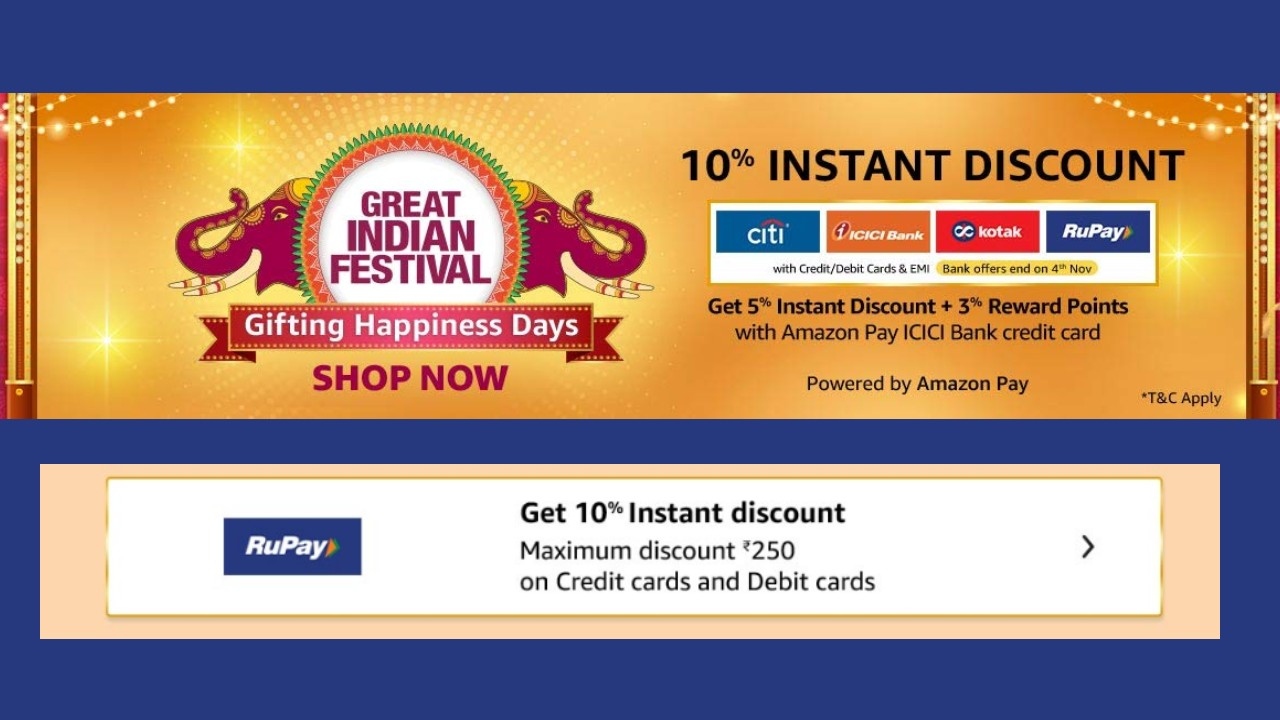 Rupay Festive Carnival Get 10 Percent Instant Discount On Amazon