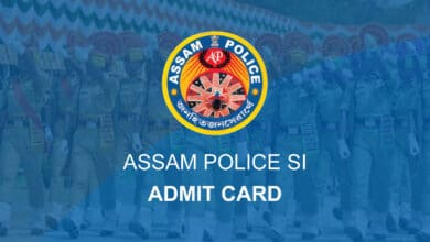 Assam Police S I Admit Card 2020