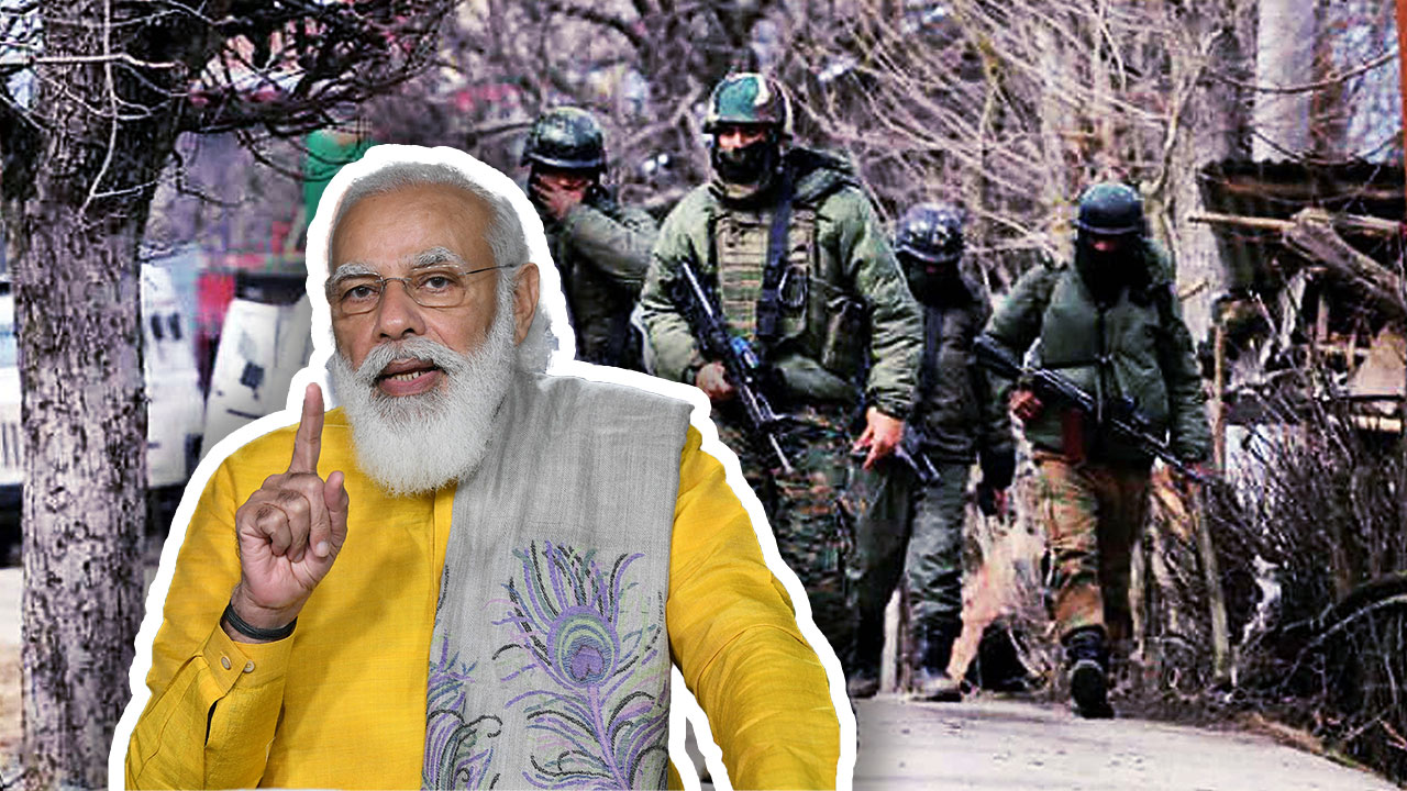 P M Modi Thanked To Indian Army For Killing 4 Terrorists