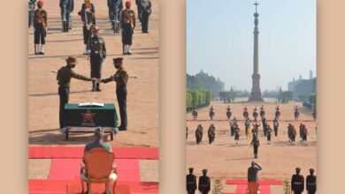 President Kovind Joins The Ceremonial Of The Change Of Army Guard