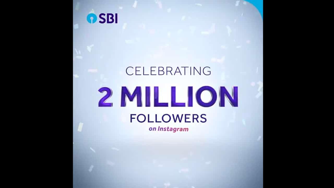 State Bank Of India Celebrating 2 Million Followers Day